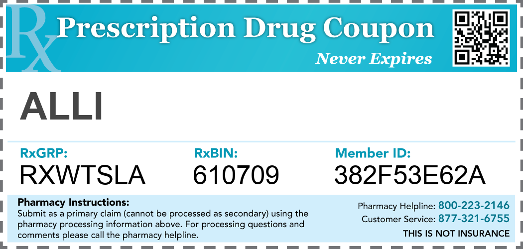 alli Prescription Drug Coupon