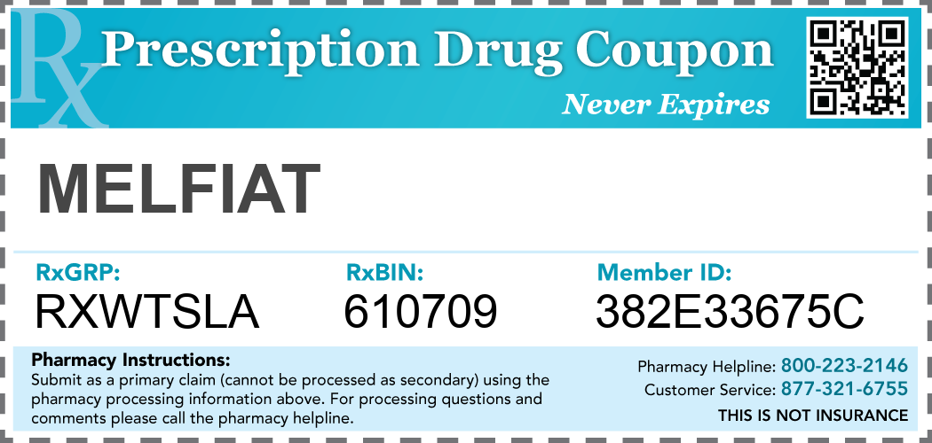 melfiat Prescription Drug Coupon