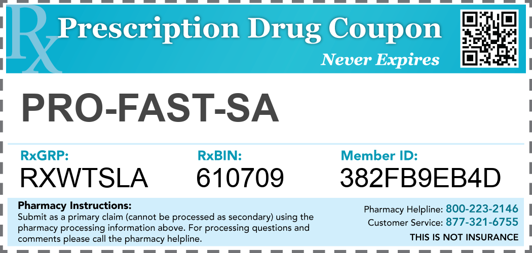 pro-fast-sa Prescription Drug Coupon